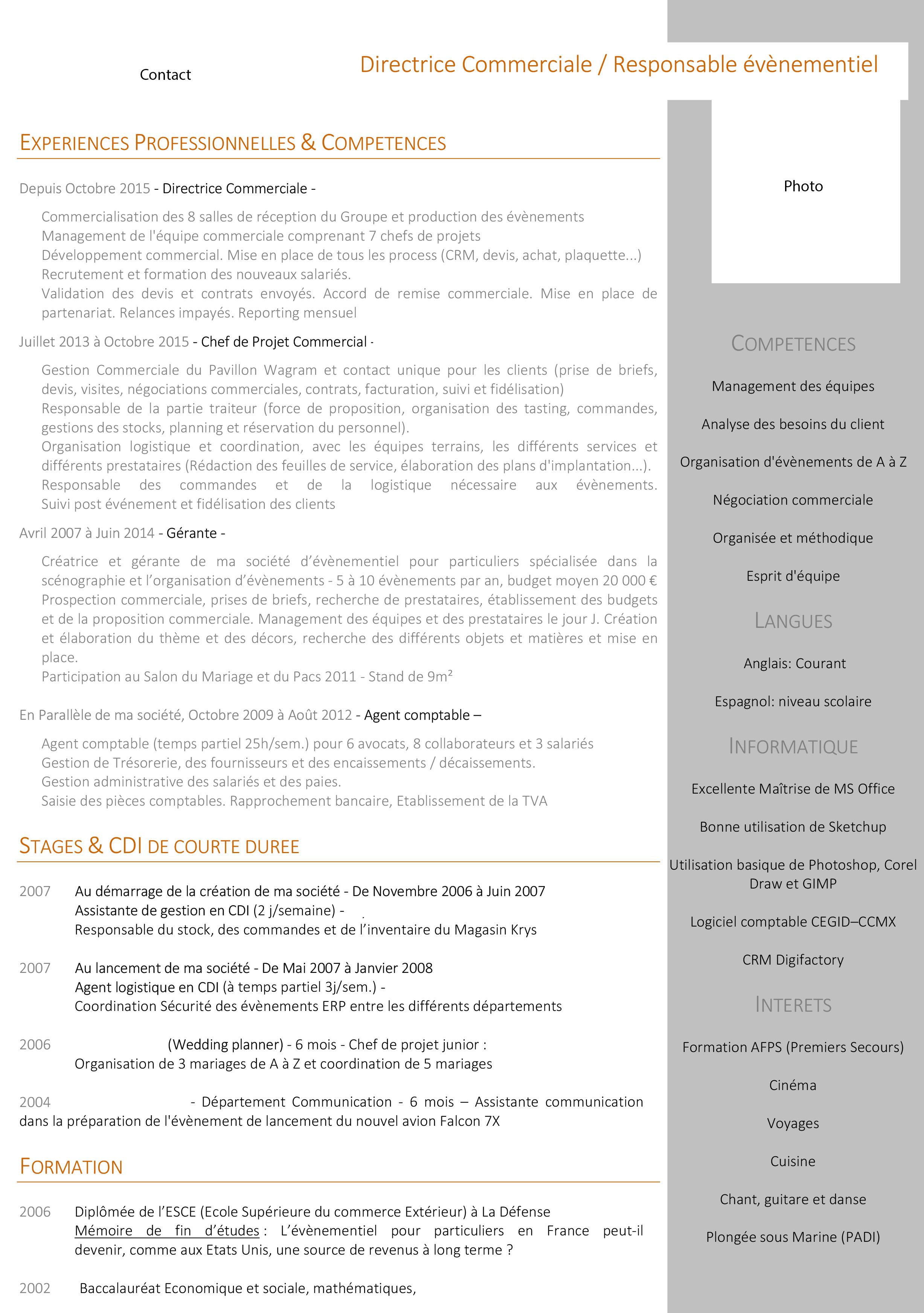 6 cv assistante de direction exemple lettre modeles cv
