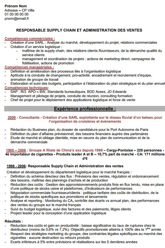 comment faire un cv par comp u00e9tences